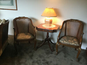 Antique 5 Piece French Bergere Sofa and 4 chairs