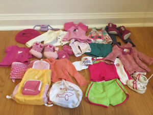 American girl doll clothing bundle pjs, accessories, outifts etc