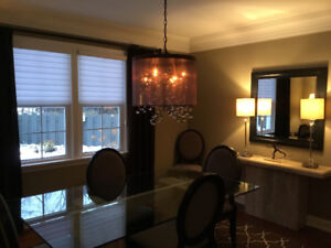 Lovely hanging light fixture - perfect for dining room