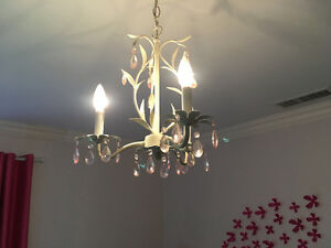 Girls bedroom chandelier
