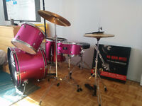 Complet drums Supra + Mutes Vic Firth