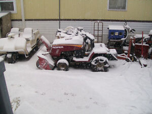 lawn tractors and snowblowers will do mechanical work including