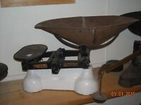 Collection of  VINTAGE TABLE TOP WEIGH  SCALES