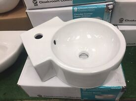 Small new cloakroom sink