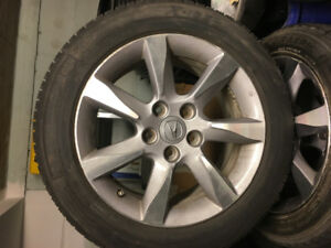 Set of Acura OEM TL Rims with winter Tires and Tpms sensors R17""