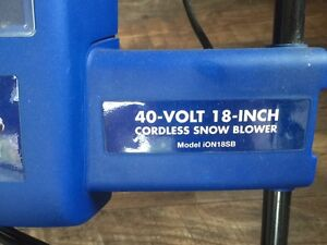 Wanted- charger and battery for this cordless snowblower  Kawartha Lakes Peterborough Area image 2