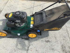 Lawn mower, Honda engine on Yard man base