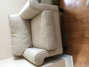 Fabric Couch and chair From Leons