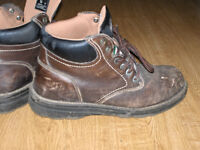 Steel toe work boots - mens' size 10