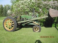 John Deere A  Unstyled Tractor