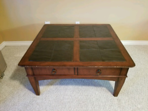 Ceramic tile top coffee table