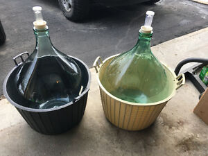 2 Wine Demijohns for Sale