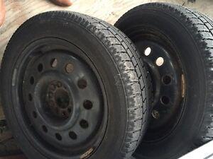 "16"" 5x114.3 winter rims and Toyo winter tires Cambridge Kitchener Area image 1"