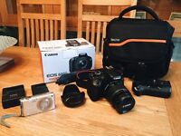 Canon EOS 600D with Casio Compact Camera with Canon Accessories