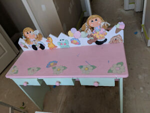 Girl's hand painted wood bedroom set
