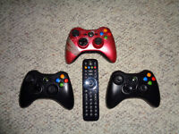 Xbox 360 Controllers and DVD Remote for Sale. Can Deliver