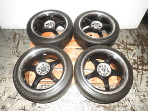 JDM 5zigen Wheels Bridgestone Tires 235/40/R18 18X8 1/2 +48 5X11