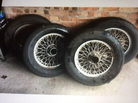 MGB wire wheels and tyres