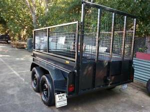 8x5 brand new hi side tandem  trailer + cage with ramp Carlton Kogarah Area Preview