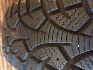 """4 - Saturn 14"""" 4 Bolt Rims (4X100) with Hercules Winter Tires with great tread! - 185/70 R14"""
