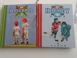 SCRAPBOOKING BOOKS FOR CHILD'S  HOCKEY/ BASEBALL