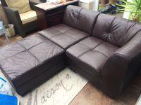 2 seater leather corner sofa