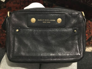 "Marc by Marc Jacobs ""Preppy Camera"" Black Leather Crossbody Bag"