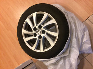 "16"" summer tires on rims in excellent condition"