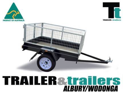 6X4 CAGE TRAILER | LIGHT DUTY | 2FT GALVANISED CAGE |SMOOTH FLOOR Lavington Albury Area Preview
