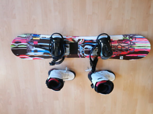 HEAD SNOWBOARD AND BOOTS