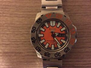 Seiko 5 Sports Automatic Monster Orange Dial Watch