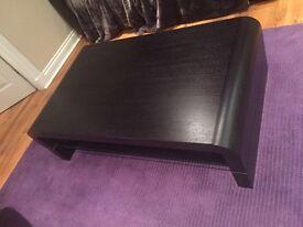 Black Ash solid wood coffee table