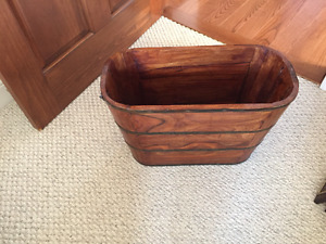 sold wooden decorative bucket