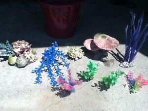 Salt Water Aquarium Artificial Plants etc