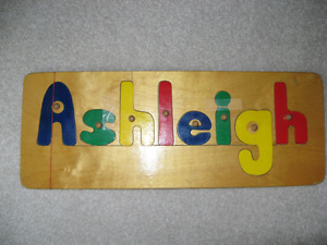 A S H L E I G H name plate or letter puzzle