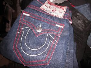 MENS LIMITED EDITION TRUE RELIGION DENIM JEANS SIZE 32