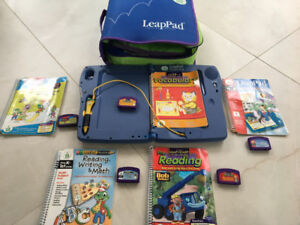 LEAP FROG LeapPad Plus Writing - Games - Books and Carrying Case