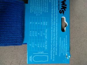 XL Pawks - dog socks with rubber bottoms
