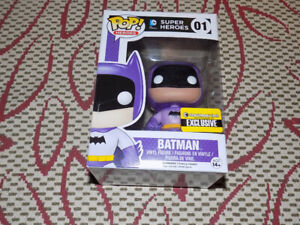 FUNKO, POP, PURPLE BATMAN, SUPER HEROES #01, VINYL FIGURE