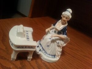 Lady and Piano two piece ceramic set