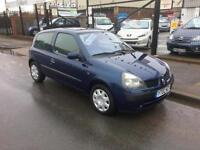 2002/02 Renault Clio 1.2 16v Expression 3dr ONLY 80509 Miles P/X To Clear £995