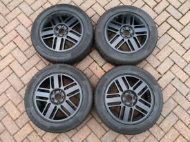 """Set of 4 Ford Focus 16"""" Alloy Wheels Continental TS 850 Winter tyres"""