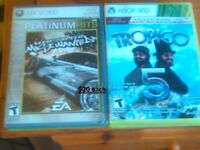 Need for speed Most Wanted 2005 and Tropico 5