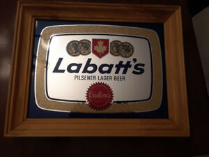 Labatt Beer mirror