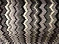 12 by 13 ft brand new remnant black white zigzag carpet