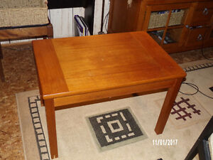 2 teak end tables