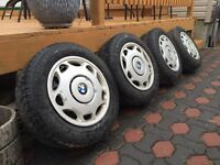 Set of Bmw wheels and tires.