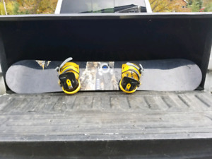 Burton Snowboards and boots