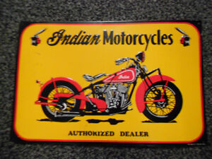 Vintage Indian Motorcycles Authorized Dealer Metal Sign