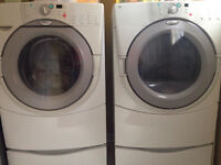Whirlpool duet washer and dryer with pedestals